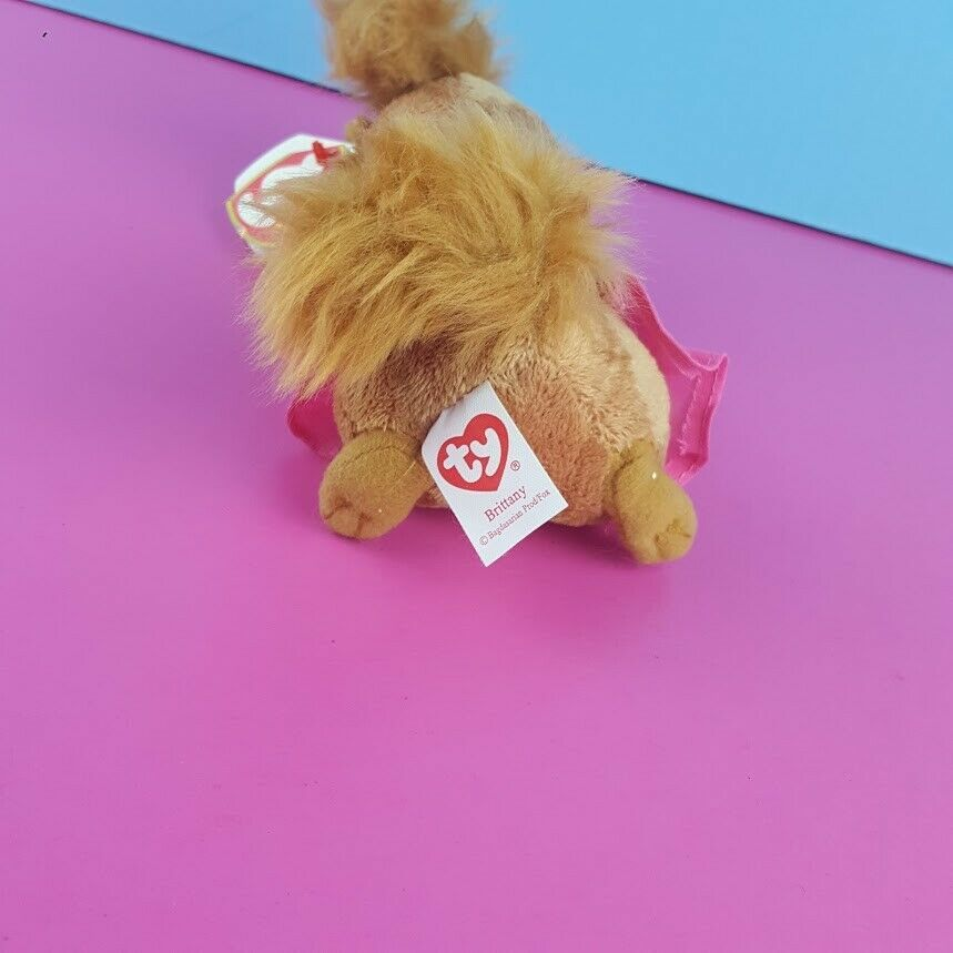 Ty Beanie Brittany Plush Alvin & Chipmunks The Squeakquel 2012 Pink Outfit image 3