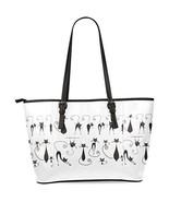 InterestPrint Cat Paw Animal Women's Leather Tote Shoulder Bags Handbags - $35.81