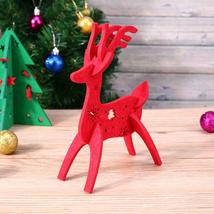 (as show)2017 New Year Lovely Cartoon Deer Christmas Gift Table Decorati... - $16.00