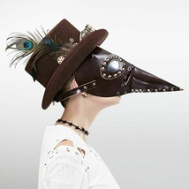 Steampunk Bird Mask Vintage Gothic Long Nose Plague Doctor Halloween Party - £30.89 GBP