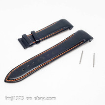 Black/orange leather strap Watchband for Tissot T035617A T035439A 23mm w... - $31.68