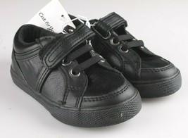 Cat & Jack Kleinkind Jungen' Huxley Schwarz Kunstleder Sneaker Schuhe 6 US Nwt