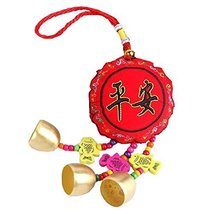 Chinese Knot Embroidery Hanging Ornaments Blessing Campanula - $20.15