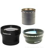 Wide + Tele Lens + Tube DMW-LA7 bundle for Panasonic DMC-FZ200 DMC-FZ200K - $80.95