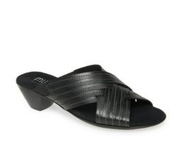 MUNRO Kelsey Black Slide Comfort sandals  9.5 W wide New - $49.45