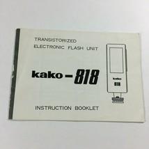 Transistorized Electronic Flash Unit Kako-818 Instruction Booklet  ZX4 - $11.63