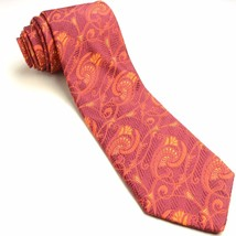 Wine Burnt Orange Silk Tie | Robert Talbott Paisley Necktie - $62.37
