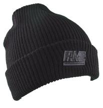 Hall of Fame Mens 2nd Sucks Black Knit Cuff Fold Skate Beanie Winter Ski Hat NWT image 1