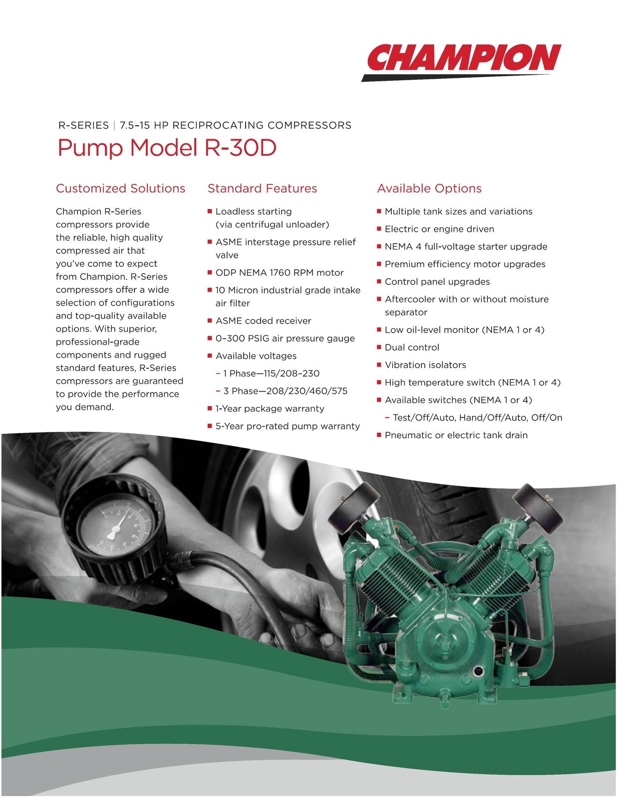 Details about Champion R30 Compressor Pump 7.5-15Hp w/ Head ...