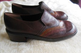 Rare Nine West Women's Brown Leather Danford Shoes Made in Brazil Size 7.5M - $54.45