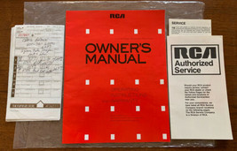 """1988 RCA Owners Manual ColorTrak Stereo 26"""" TV Monitor Receiver Instruct... - $18.80"""