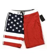 Hurley Phantom Patriot Red White Blue Stretch Boardshorts Men's NWT - $59.99