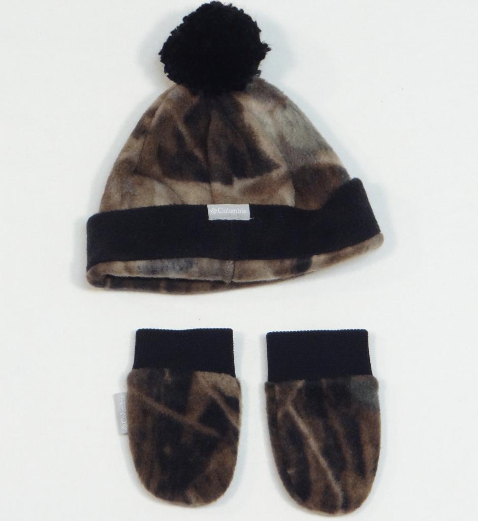 Columbia Frosty Fleece II Fleece Beanie Hat & Mittens Infant One Size NWT