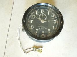 Mark I Boat Clock U.S. Navy 1942 WWII Maritime Marine Ship Clock w Key W... - £269.06 GBP