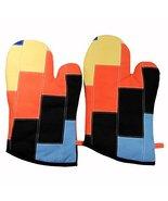 Black Temptation [Quartet] Heat Resistant Patchwork Oven Gloves/Micro-Ov... - $18.19