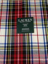 "Ralph Lauren Gretchen Tartan Ivory/Red/Blue/Black/Yellow Tablecloth 104""... - $51.00"
