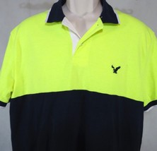 American Eagle Outfitters AEO Classic Fit Polo Shirt Men Size L Neon Gre... - $281,60 MXN