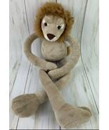 "FAO Schwarz 20"" Lion Plush Tug-A-Lug ToysRUs Adjustable Arms Legs Stuffed Animal - $10.88"