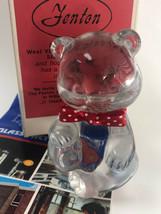 Rare Fenton Clear Glass Teddy Bear Original Box Pre-Teen Beauty Pageant ... - $24.00