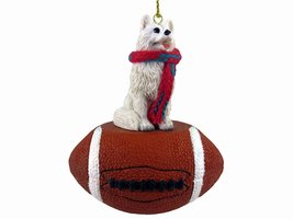 American Eskimo Football Ornament - $17.99