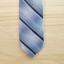 "Vintage Wembley Neck Tie Blue Striped Preppy Skinny Schoolboy 3.25"" - $11.87"