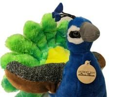 "Wild Republic Peacock Plush 12"" inch Detroit Zoo Tag Bird Stuffed Animal - $14.46"