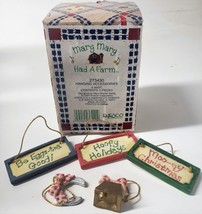 Enesco Mary Mary Had A Farm #273430 1997 Hanging Accessories 5 Asst. Pieces Figu - $31.49