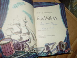 Ride with Me by Thomas Bertram Costain (1944, Hardback) & Old NewsPaper AD - $97.00