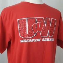 Team Starter Wisconsin Badgers T-Shirt Men Sz L Cotton Big Red Bucky UW ... - $14.99