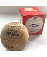"Vintage Debeer Official Clincher 16"" Softball in Box F16-16 inch - $14.01"