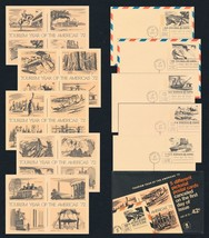 "US FDC TOURISM YEAR OF THE AMERICAS ""72 Set of 5 Postcards as Issued BRU... - $4.00"