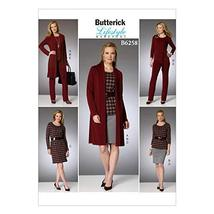 BUTTERICK PATTERNS B62580Y0 Misses Cardigan, Top, Belt, Dress, Skirt and... - $2.94