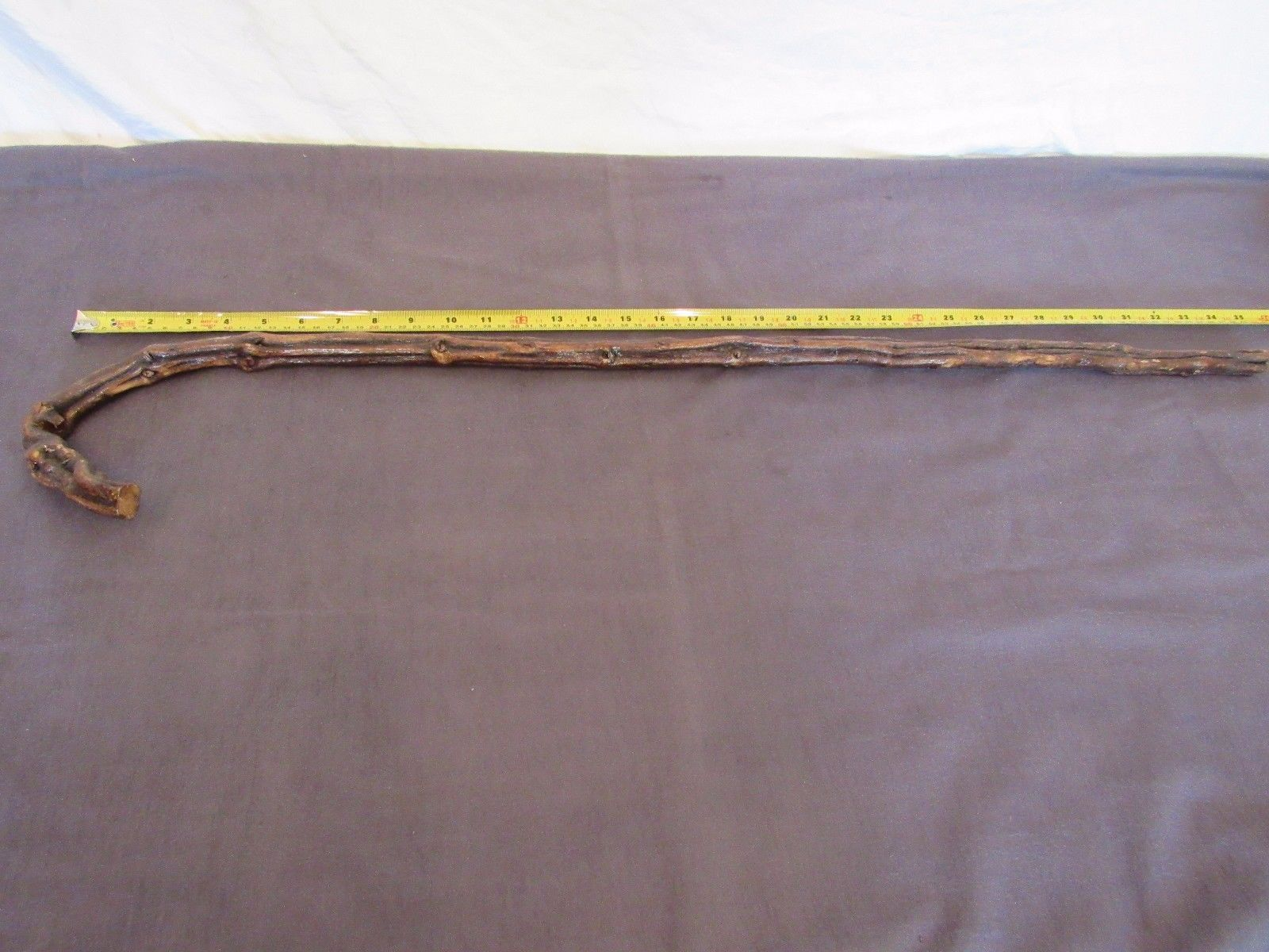 VTG Bent Wood Root Vine Walking Stick Costume Party Accessory  Prop 35""