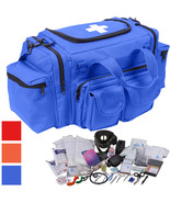 200 Pcs Emergency Medical Trauma Kit Carry Bag & First Aid Supplies Full... - $194.99