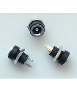 PLUGZ2GO 2.1MM X 5.5MM PANEL CHASSIS MOUNT DC SOCKET POWER JACK PLUG- SMALL - $3.40+