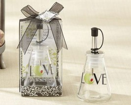 """Olive You!"" Glass LOVE Oil Bottle in Signature Tuscan Box Set of 12 - $53.41"