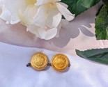 Vintage Gold Large Baroque Clip on Earrings - $25.60