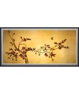 Oriental Furniture Birds on Plum Tree Canvas Wall Art - $30.79