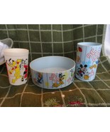 Betras Disney blue bowl and cup plus Eagle Disney Mousercise cup plastic - $19.50