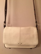 Shoulder Bag Off-White Purse Liz Claiborne Handbag Beige Faux Pebbled Leather - $54.00