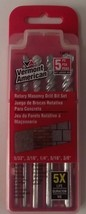 Vermont American 14012 Masonry Drill Bit Set 5 Pcs  5/32 3/16 1/4 5/16 3/8 - $5.69