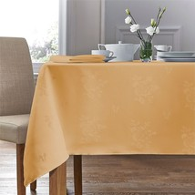 "WOVEN DAMASK ROSE GOLD CIRCULAR ROUND TABLECLOTH 54"" (137CM) - $20.85"