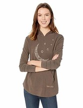 Life is Good Women's Supreme Hooded Pullover, Rich Brown, Small