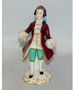 Frankenthal Germany Standing Gentleman Figurine with Lace Cuffs - $24.75