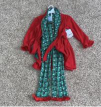 Bunz Kidz 3pc Pajamas Robe Girls size 5 NWT  - $43.54