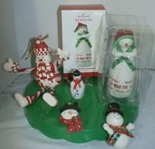 Mixed  Lot of 5 Snowman  Christmas Ornaments Hallmark Keepsake Clay Plas... - $19.79