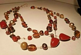 Unique 3 Strand Treasure Necklace w/ Pearls Stones Murano Glass and MUCH MORE! image 10