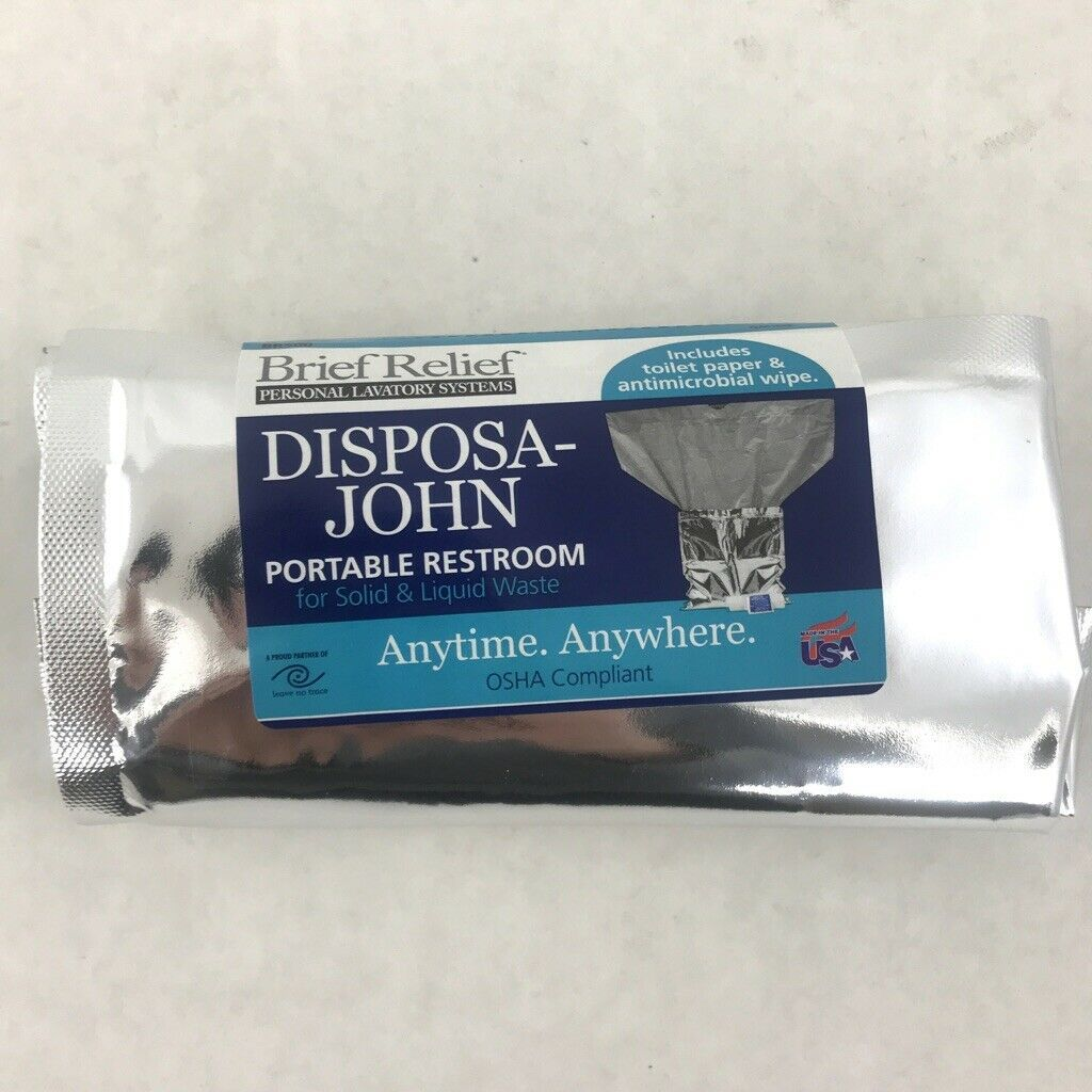 100 Case Brief Relief Disposa John Portable Toilet Disposable Waste Bags