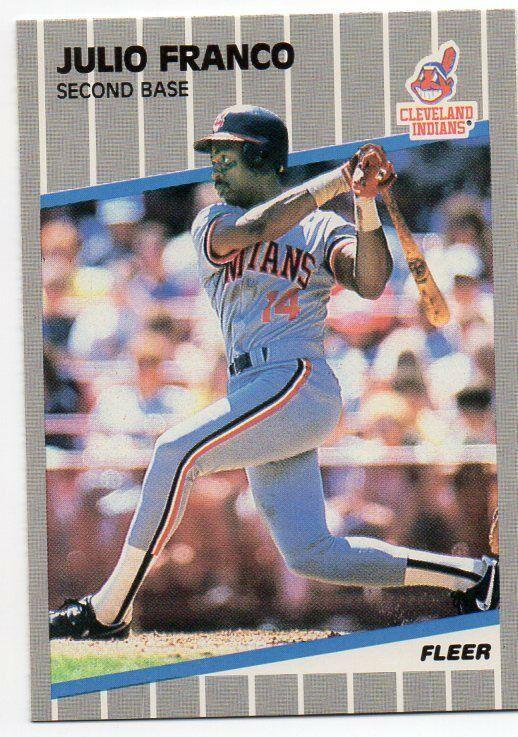 1989 Fleer Cleveland Indians Team Set