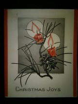 Art Deco Candles 1930's Vintage Christmas Card - $4.00